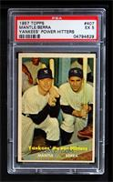 Yankees' Power Hitters (Mickey Mantle, Yogi Berra) [PSA 5]