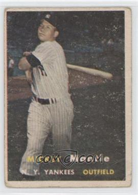 1957 Topps #95 - Mickey Mantle [Poor to Fair]