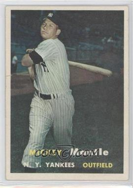 1957 Topps #95 - Mickey Mantle [Good to VG‑EX]