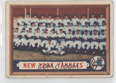 1957 Topps #97 - New York Yankees Team