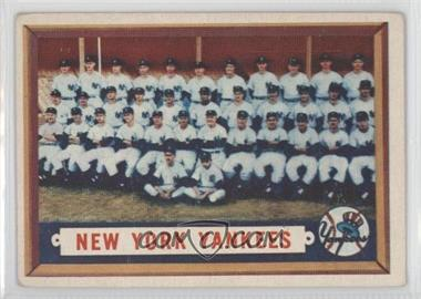 1957 Topps #97 - New York Yankees Team [Good to VG‑EX]