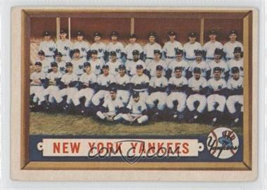 1957 Topps #97 - New York Yankees Team [GoodtoVG‑EX]