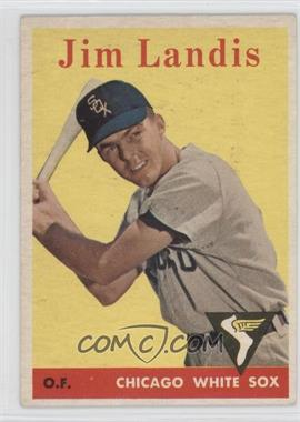 1958 Topps - [Base] #108.1 - Jim Landis (team name in white letters)