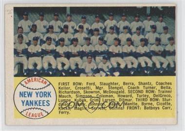 1958 Topps - [Base] #246 - New York Yankees Team
