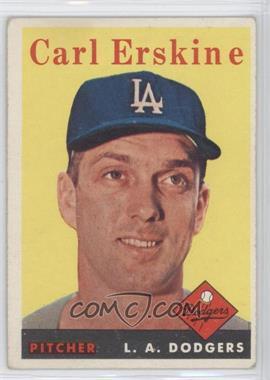 1958 Topps - [Base] #258 - Carl Erskine