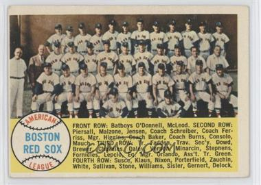 1958 Topps - [Base] #312 - Boston Red Sox Team