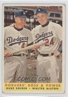 Dodgers' Boss & Power (Duke Snider, Walter Alston) [Poor to Fair]