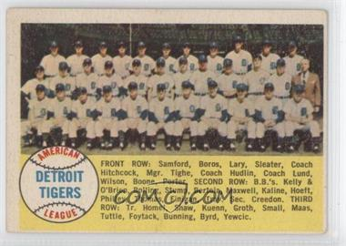 1958 Topps - [Base] #397.1 - Detroit Tigers Team (Checklist) (Alphabetical Checklist Back)