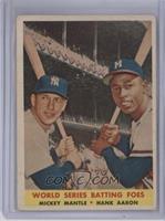 World Series Batting Foes (Mickey Mantle, Hank Aaron) [GoodtoVG&#82…