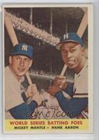 World Series Batting Foes (Mickey Mantle, Hank Aaron)