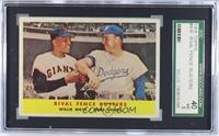 Rival Fence Busters (Willie Mays, Duke Snider) [SGC40]