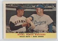 Rival Fence Busters (Willie Mays, Duke Snider)