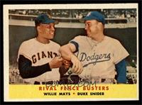 Rival Fence Busters (Willie Mays, Duke Snider) [EX MT]