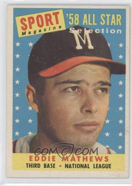 1958 Topps - [Base] #480 - Eddie Mathews