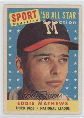 1958 Topps - [Base] #480 - Eddie Mathews [GoodtoVG‑EX]