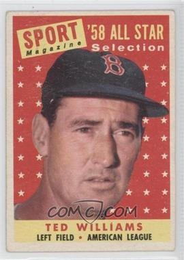 1958 Topps - [Base] #485 - Ted Williams