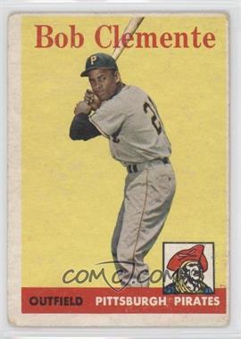 1958 Topps - [Base] #52.1 - Roberto Clemente (White Team Name) [GoodtoVG‑EX]