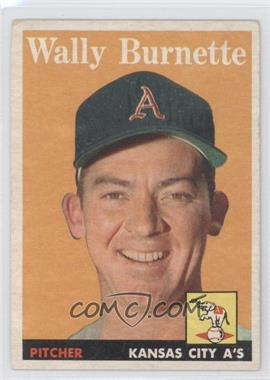 1958 Topps - [Base] #69 - Wally Burnette