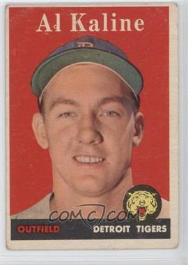 1958 Topps - [Base] #70.1 - Al Kaline (player name in white)