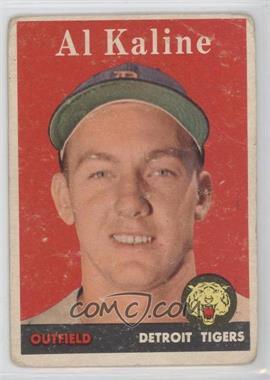 1958 Topps - [Base] #70.1 - Al Kaline (player name in white) [GoodtoVG‑EX]