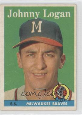 1958 Topps #110 - Johnny Logan