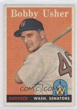 1958 Topps #124 - Bob Usher