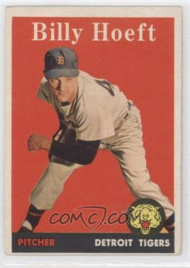 1958 Topps #13.1 - Billy Hoeft (player name in white)