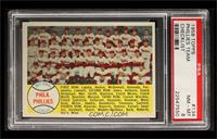 Philadelphia Phillies Team Checklist 89-176 [PSA 8]
