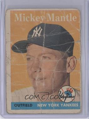 1958 Topps #150 - Mickey Mantle [Poor]