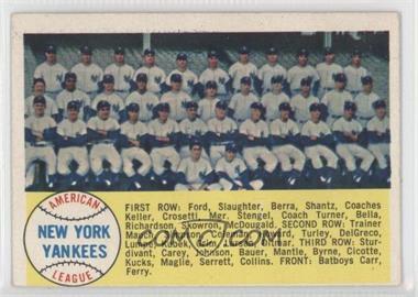 1958 Topps #246 - New York Yankees Team