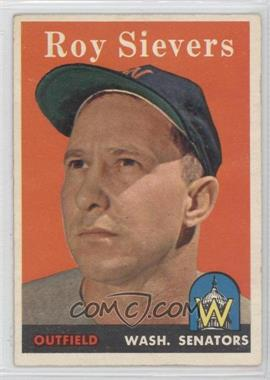 1958 Topps #250 - Roy Sievers