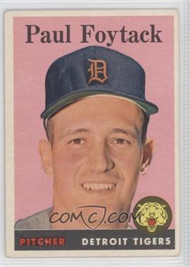 1958 Topps #282 - Paul Foytack