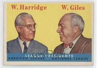 League Presidents (William Harridge, Warren Giles) [Good to VG‑…