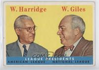 League Presidents (William Harridge, Warren Giles)