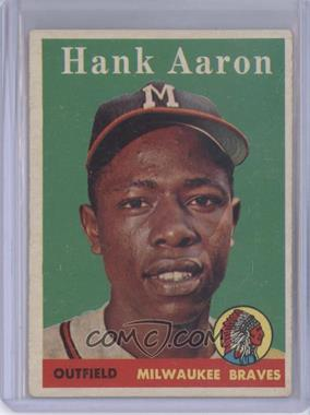 1958 Topps #30.1 - Hank Aaron (player name in white)