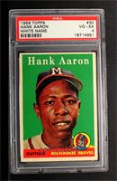 Hank Aaron (player name in white) [PSA 4]