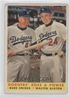 Dodgers' Boss & Power (Duke Snider, Walter Alston) [GoodtoVG‑…