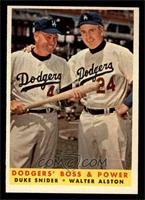 Dodgers' Boss & Power (Duke Snider, Walter Alston) [NM]