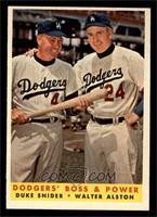 Dodgers' Boss & Power (Duke Snider, Walter Alston) [NM]