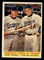 Dodgers' Boss & Power (Duke Snider, Walter Alston) [EXMT]