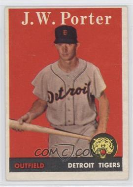 1958 Topps #32.1 - J.W. Porter (White name)