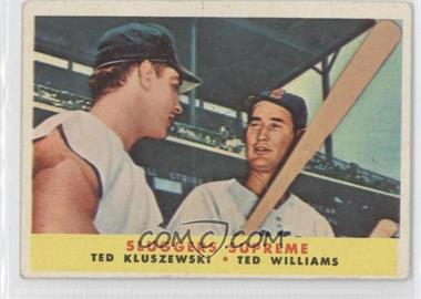 1958 Topps #321 - Sluggers Supreme (Ted Kluszewski, Ted Williams) [Good to VG‑EX]