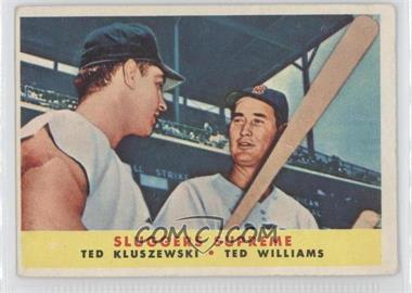 1958 Topps #321 - Sluggers Supreme (Ted Kluszewski, Ted Williams) [GoodtoVG‑EX]
