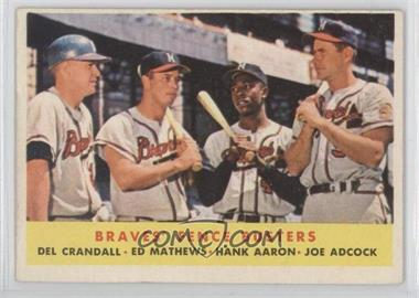 1958 Topps #351 - Braves' Fence Busters (Del Crandall, Eddie Mathews, Hank Aaron, Joe Adcock)