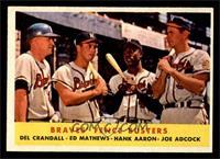 Braves' Fence Busters (Del Crandall, Eddie Mathews, Hank Aaron, Joe Adcock) [EX…