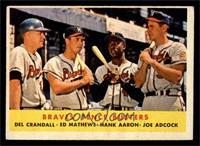 Braves' Fence Busters (Del Crandall, Eddie Mathews, Hank Aaron, Joe Adcock) [EX]