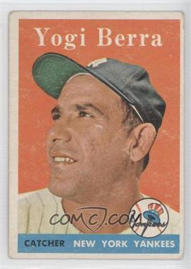 1958 Topps #370 - Yogi Berra [GoodtoVG‑EX]