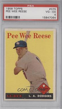1958 Topps #375 - Pee Wee Reese [PSA4]