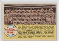 Milwaukee Braves Team (Sixth Series Checklist back) [Good to VG&#8209…