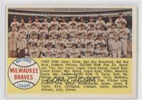 Milwaukee Braves Team (Sixth Series Checklist back)
